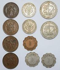 CYPRUS: 1 Piastre since 1938 x 2 & 1942. 4 x 5, 2 x 50 & 2 x 100 Mils 1955. RARE