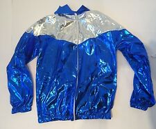 Shiny Nylon Vintage Sport Wet Look M cal Surf 90s Retro ibiza pvc sexy jacket