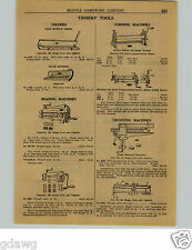 1924 PAPER AD 13 Page Tinners' Tools Brake Folder Beading Machine Crimper Stakes