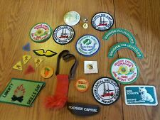 Vintage girl scout paches pins 1950's through 1980's bee wings skill day hoosier