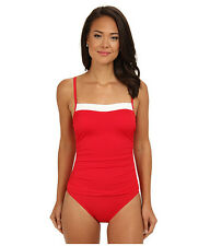 RALPH LAUREN BEL AIRE LINGERIE MIO SLIMMING FIT ONE PIECE SWIMSUIT RED SZ 10 $89