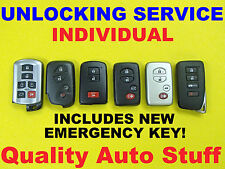 Unlock Toyota Lexus Smart Key FOB Proximity Remote Virgin Reset Reflash Service