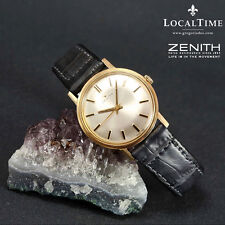 Classy 1965-1969 ZENITH Swiss 9k Yellow Gold Vintage Gents Dress Watch Cal. 2542