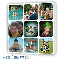 "LOVELY 16""X16"" COLLAGE CANVAS PERSONALISED PHOTO BIRTHDAY CHRISTMAS XMAS FAMILY"
