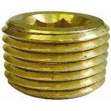 """Barbed & Threaded Fittings 1/8"""" Male NPT Allen Key Plug Brass JDW14.01"""