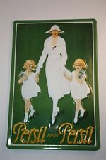"3D Metal Sign 20x30 cm Persil ""Persil Remains Persil"" Tin Sign Metal Enamel"