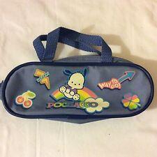 Vintage Sanrio 2002 pochacco dog pencil case/bag pouch with handle