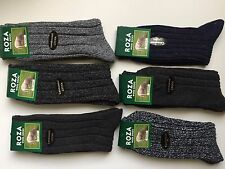 6 pairs MENS LONG WOOL BLEND THERMAL SOCKS TICK WALKING HIKING SKI BOOT KGHBN