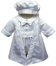 Baby Boys Highly Deatiled 3 pieces Christening Suit Romper Jacket And Hat