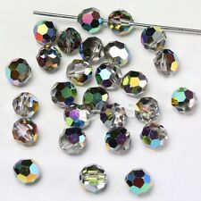 48 pcs Swarovski 5000 faceted 4mm Round Ball Beads Crystal Vitrail Medium VM