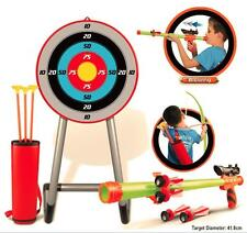 Kids Garden Archery Set Safe Bow And Arrow Blow Pipe Darts Target Stand 101338