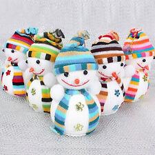 5X Weihnachten Schneemann Baumdekoration Figuren Hause Wand Weihnachtsdeko Bund