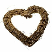 Gisela Graham Natural Twig Heart 30cm Home  Christmas Wreath Decoration