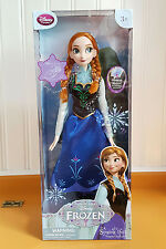 """Singing ANNA Doll Frozen 16"""" Disney Store Exclusive """"For the First Time"""" Lights"""