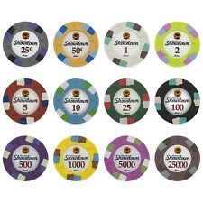 New Bulk Lot of 500 Showdown 13.5g Clay Casino Poker Chips - Pick Chips!