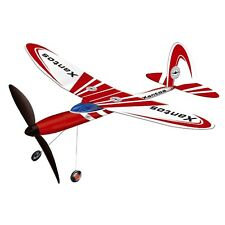Xantos Rubber Band Plane - Gunther Red & White High Performance Powered