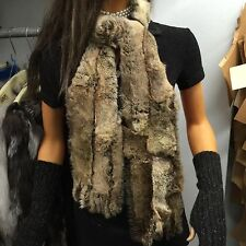 ALL REAL Fur  Rex leatherized rabbit Scarf