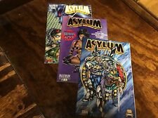 Asylum #1,2,5 (Maximum Press/101451) comic book collection lot of 3