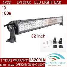 "32"" 180W Led Light Bar Spot Beam Lamp Suv Atv Boat 4WD Truck Bar Offroad"