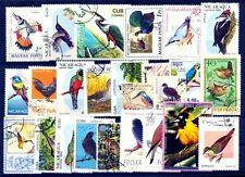 Birds on Stamps - 25 Different