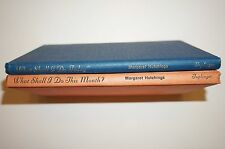 """Lot of 2 """"WHAT SHALL I DO THIS MONTH AND TODAY?""""/HUTCHINGS/1965 KIDS CRAFT"""