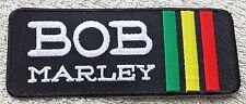 BOB MARLEY STRIPE PATCH Cloth Badge/Emblem/Insignia Biker Jacket Bag Rastafarian