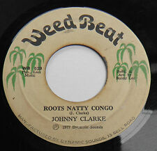 "Johnny Clarke-Roots Natty Congo-JA Weed Beat 7""-Reggae Roots Dub-1977-HEAR"