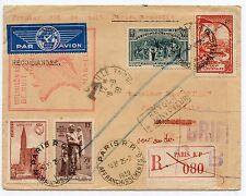 ENVELOPPE / PREMIER VOL DE NUIT PARIS MARSEILLE 1939 / EN RECOMMANDE