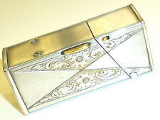 """MYLFLAM """"STRATO"""" SEMI-AUTOMATIC LIGHTER -SILVER PLATED- FEUERZEUG -1935 -GERMANY"""