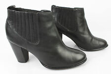 Bottines Boots ANDRE Cuir Noir T 39 TBE