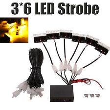 18 LED Emergency Vehicle Strobe Lights for Front Grille/Deck - Amber