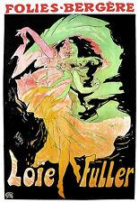 ART POSTER-loïe Fuller-FOLIES BERGERE-DANCE-Deco a3 Print