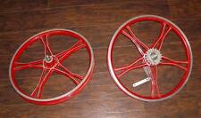 "Vintage Lester Old School 20"" Mag BMX Bike Bendix 76 Coaster Bike Wheel Set"
