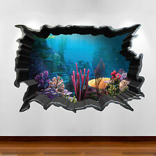 Gran color de múltiples tropicales peces de Acuario 3D Pared Arte Pegatina Calcomanía