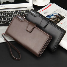 Baellerry Luxury Brand large Capacity Leather Mens Wallet Long Purse Coin Pocket