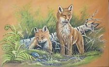 Acrylmalerei Christiane Schwarz; NEUGIERIGE FÜCHSCHEN ca. 80x50cm, KUNST NATUR