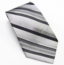 Statements Gray Stripe Tie Silk Neck Tie New