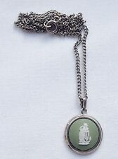 Wedgwood Hope and Anchor Pendant with Chain Green Jasperware