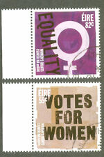 Ireland-Votes for Women-Equality fine used set-2053/4 (2011)