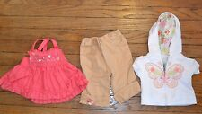 12 Month Baby Guess & Baby Headquarters Outfit Butterfly Hoodie & Sleevless Top