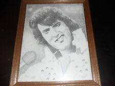 ABSOLUTLEY AMAZING ELVIS PRESLEY HAND DRAWING BY POULIN 2011 PENCIL SIGNED