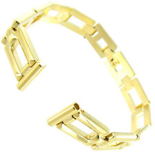 10mm Hirsch Ladies Gold Tone Horseshoe Link Design Center Clasp Watch Band 2931