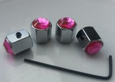 Driving Test 1ST Car Present Gift  Pink Car Dust Cap Valve stem Locking