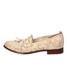 scarpe donna MOMA 37 EU mocassini bianco pelle AE740
