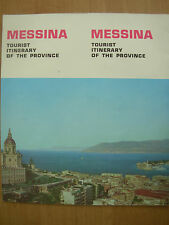 VINTAGE TOURIST BROCHURE MESSINA CICILY ITINERY OF THE PROVINCE 1960's
