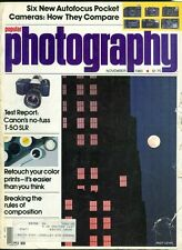 1983 Popular Photography Magazine: Andy Levin/Canon T-50/Easy Color Retouch
