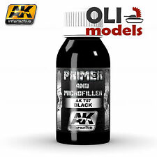 Xtreme Metal BLACK PRIMER & MICROFILLER 100ml Bottle - AK Interactive 757