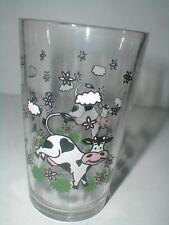 Morning Star Country Farm Holstein Cow 12 oz Glass Tumbler