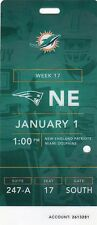 2016 2017 WORLD CHAMPS NEW ENGLAND PATRIOTS @ MIAMI DOLPHINS FULL TICKET STUB