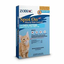 Zodiac Spot on Flea Control For Cats and Kittens  Over 3Lbs/Under5Lbs 4 month